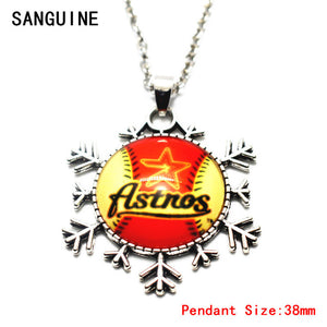New 1pcs Free Chain Necklace Silver Star  Baseball Houston Astros Big Necklaces & Pendants For Women Necklace Jewelry Making