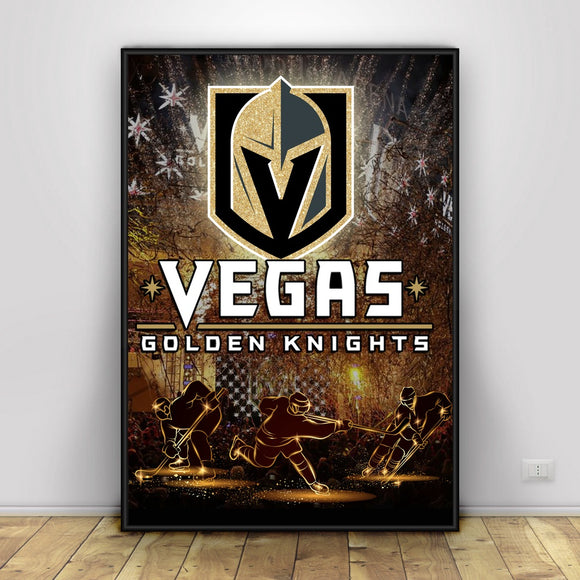 Las Vegas Golden Knight Art Poster