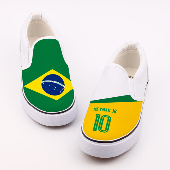 Neymar Jr. Brazil Soccer/Football Canvas Shoes