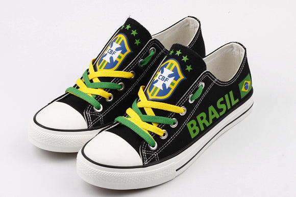Brazil Football / Soccer Canvas Shoes