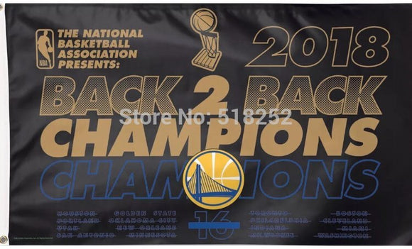 Back To Back Warriors 2018 Championship Banner