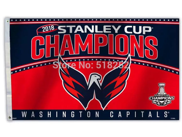 Washington Capitals 2018 Champions Flag/Banner 3X5