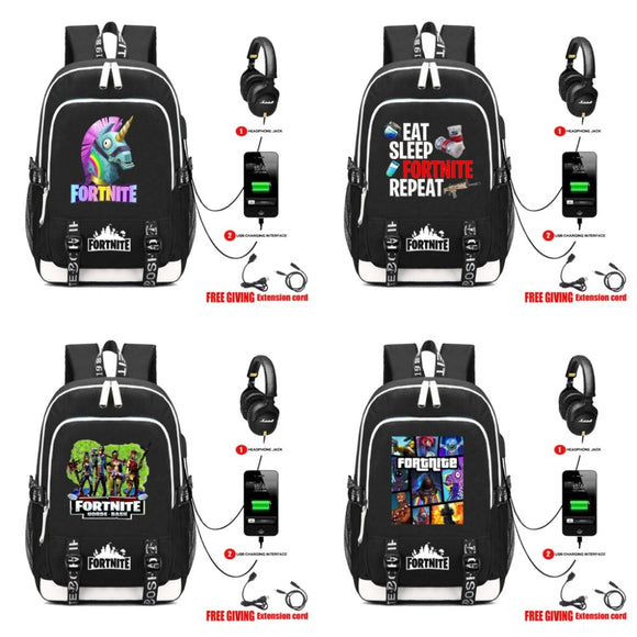 Fortnite USB Headphone Backpacks (31 Styles To Choose From)