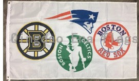 Boston Sports Fans Flag