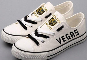 Vegas Golden Knights Shoes (White & Gold)