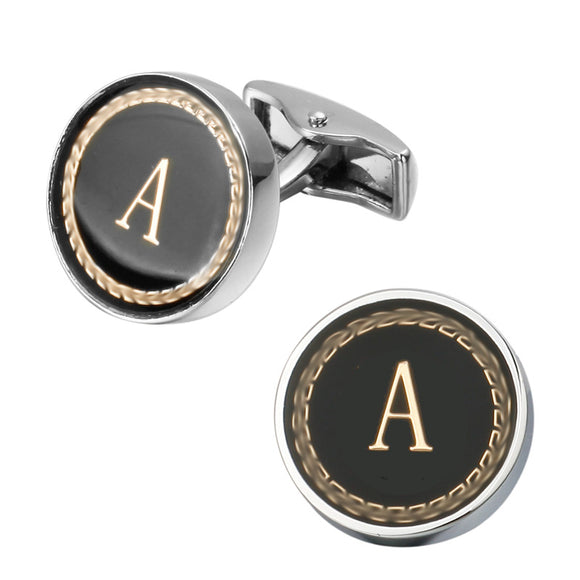 Mens Single Letter Cuff-Links (18 Of The Most Popular Letters To Choose From)