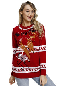 Women's Reindeer Ugly Sweater