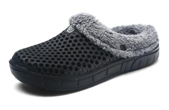 Men's Winter Croc-Style Indoor Outdoor Slippers