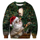 Women's Muscle Cat Ugly Sweater