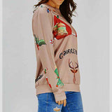 Autumn,Winter Christmas Women Sweatshirts Funny Print Ugly Christmas Sweatshirts Crewneck Various Design Tops Multicolor