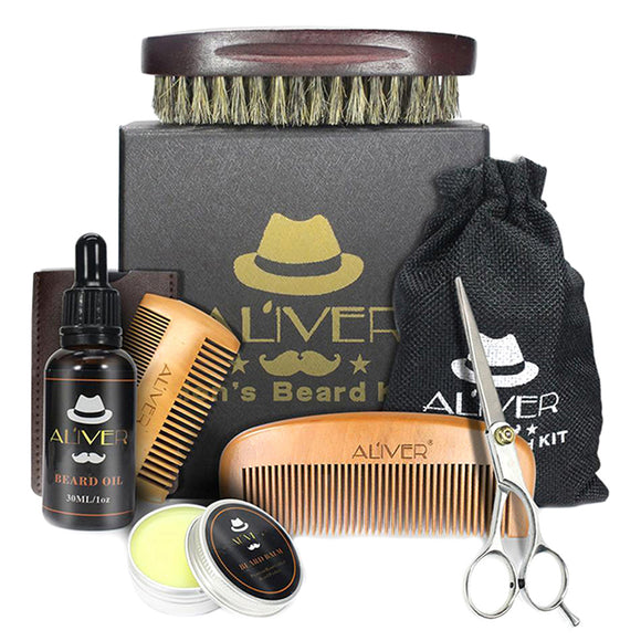 6 Piece Beard Grooming Kit