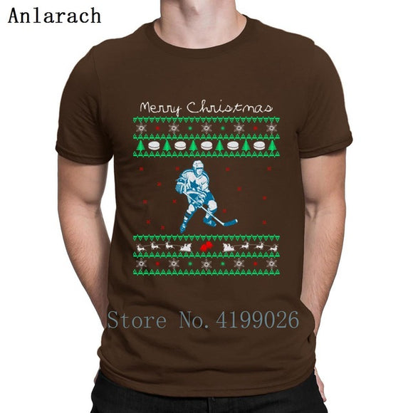 Ice Hockey T-Shirt Ugly Sweater Option