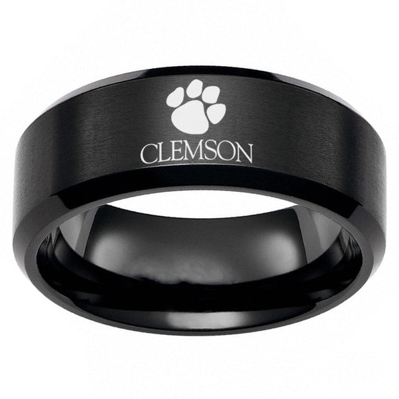 Clemson Tiger Paw Ring Titanium Steel (6 Colors To Choose From)
