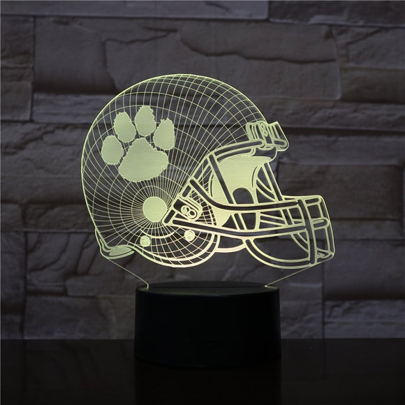 Clemson Tigers Football Helmet 3D LED Night Light