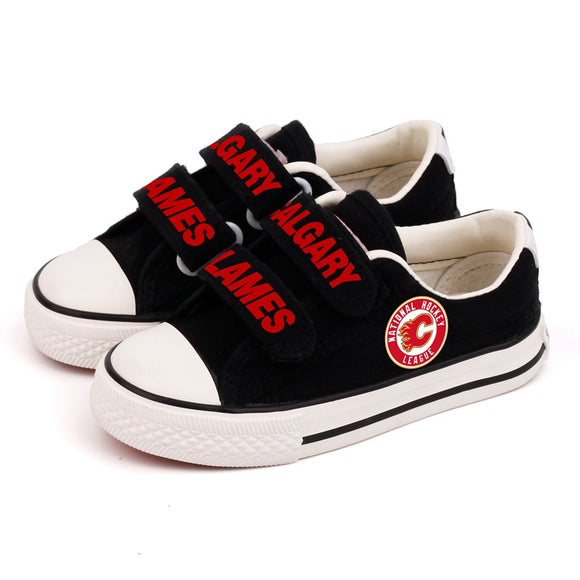 Calgary Flames Fan Shoes For Kids (2 Styles To Choose From)