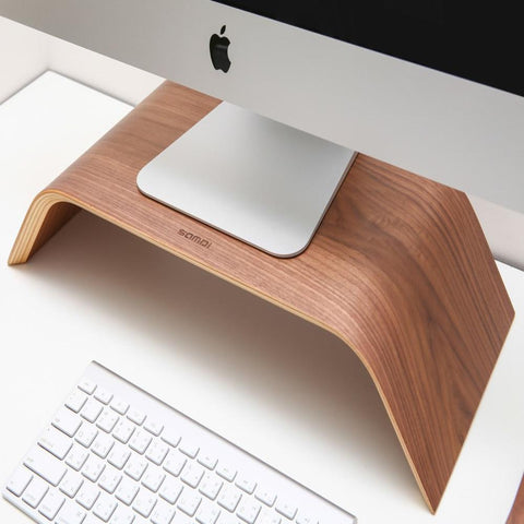 SAMDI Natural Wood Monitor Stand and Riser