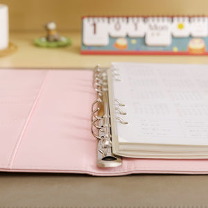 Macaron Leather Spiral Notebook