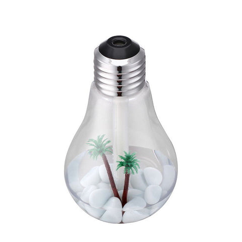 Light Bulb Ultrasonic Desk Humidifier - USB powered