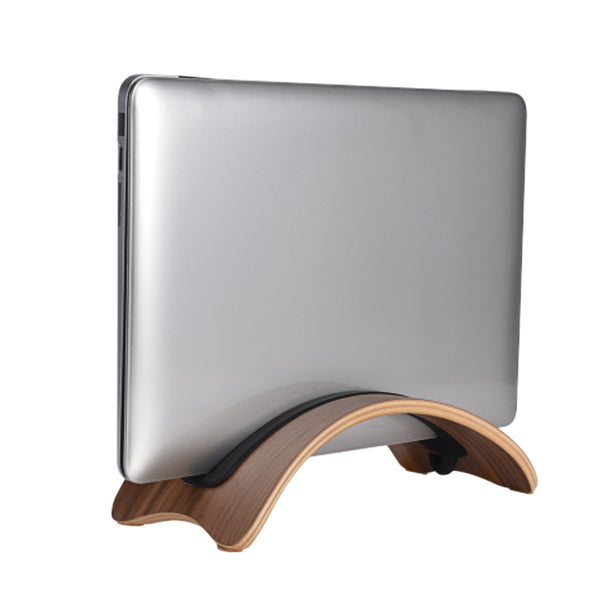 SAMDI Natural Wood Laptop Arc Stand for MacBook Pro/Air