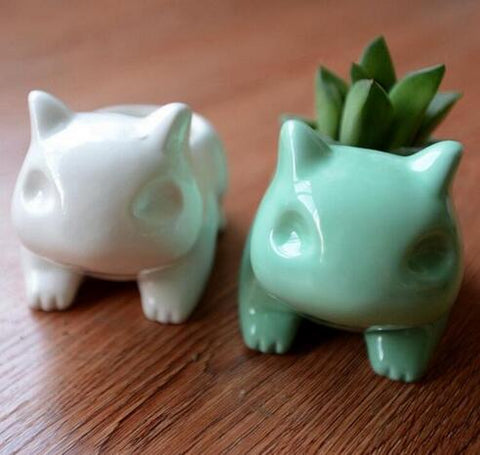 Cute Pokemon Bulbasaur Ceramic Flower Pot