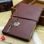 Leather Retro Vintage Notebook Bound Blank Page Journal Diary