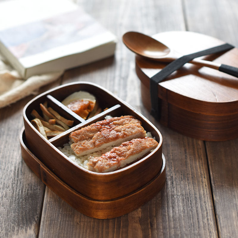 Natural Wood Lunch Box