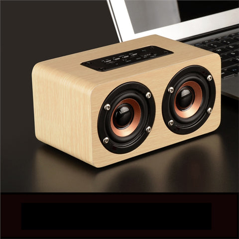 Retro Wooden Bluetooth Speaker System - Portable, Wireless, Dual Speakers, TF Card & AUX IN