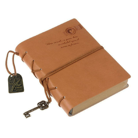 Vintage Khaki Notebook with the Key