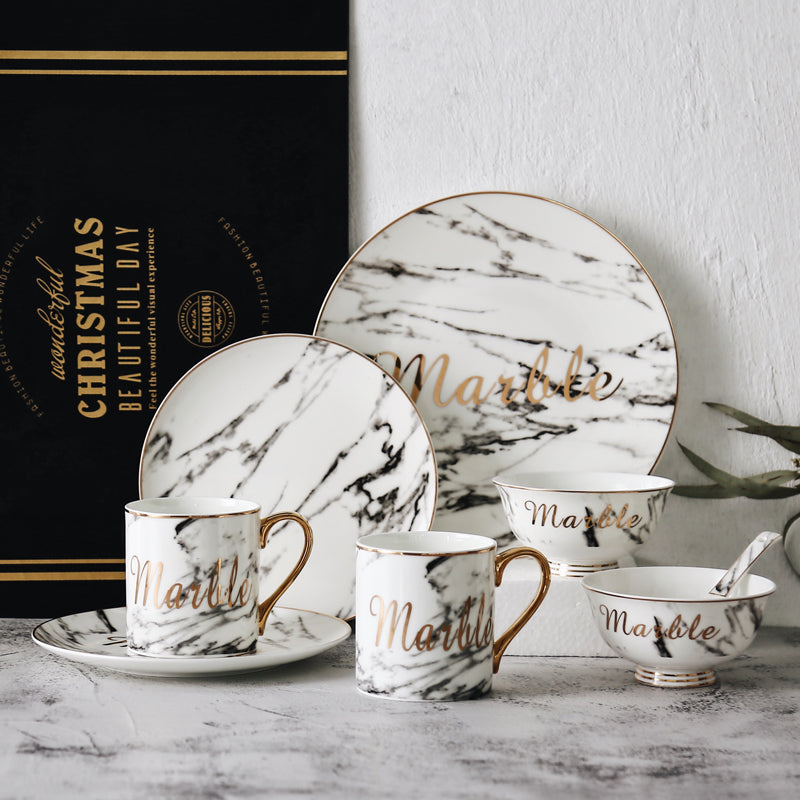 Marble Porcelain Tableware