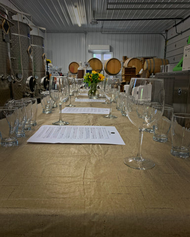 Photo of flights in winery