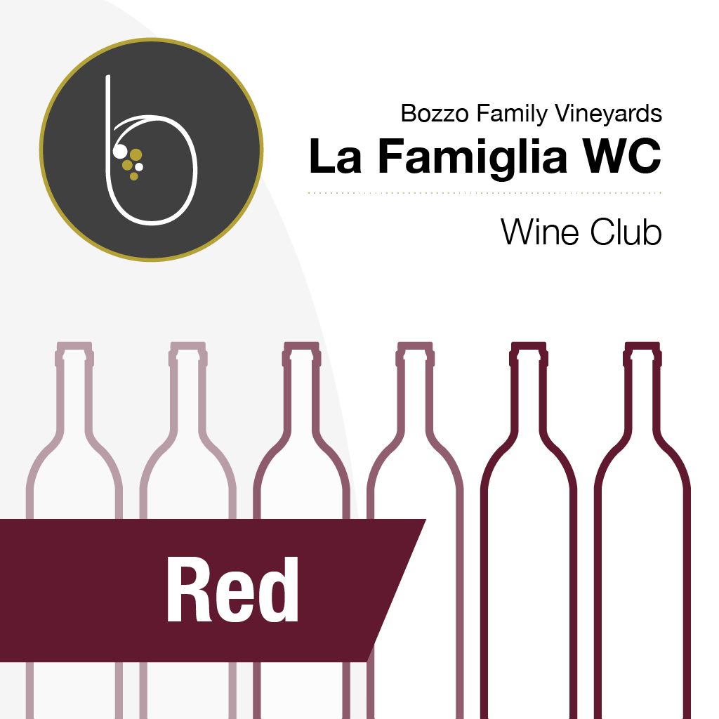 Graphic of red wine bottles for red wine club