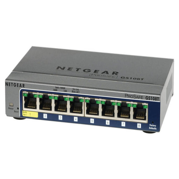 Netgear ProSafe GS108Tv2 8-Port Gigabit Smart Switch