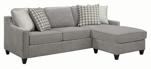 Scott Living 501697 Montgomery Upholstered Sectional, Charcoal