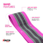 Premium Set of 3 Hip Loop Bands | Non Slip, Anti Roll & Anti Snap Design