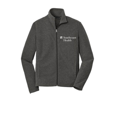 Port Authority Heather Microfleece Full-Zip Jacket-Men