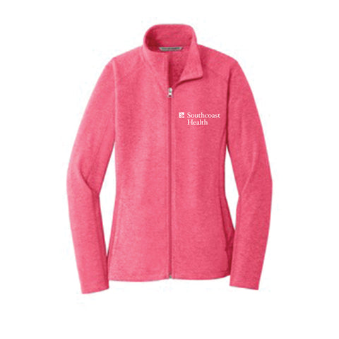 Port Authority Heather Microfleece Full-Zip Jacket-Women