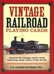 Playing Cards Vintage Railroad