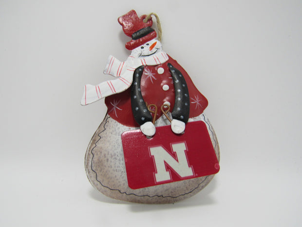 Nebraska Tin Ornament