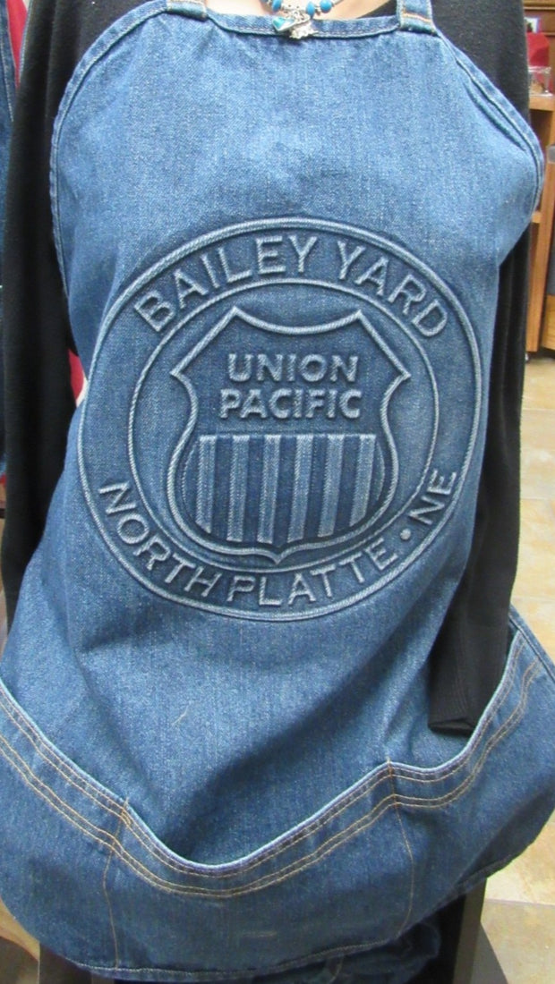 Union Pacific Logo Denim Apron
