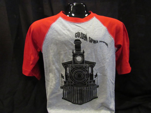 Golden Spike Train Baseball T-Shirt