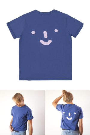 Grown-ups: 'Nosey' Tee in Blue