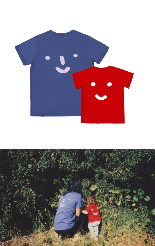 'Nosey Parker' Tee Combo in Red & Blue