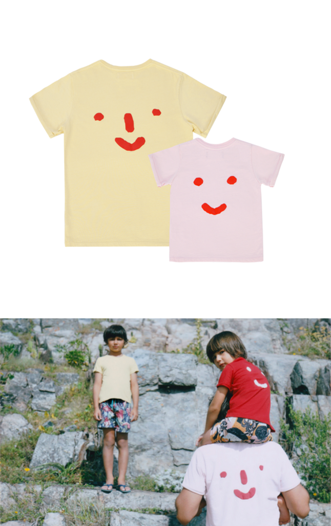 'Nosey Parker' Tee Combo in Yellow & Pink