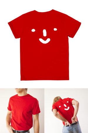 Grown-ups: 'Nosey' Tee in Red