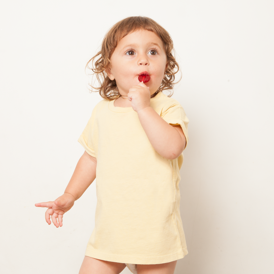 Kids: 'Parker' Tee in Yellow