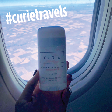 Curie travels plane deodorant stick