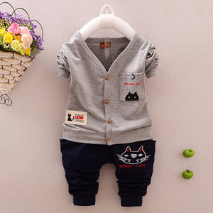 Set Of Children's Clothes In Cotton. 2 pc