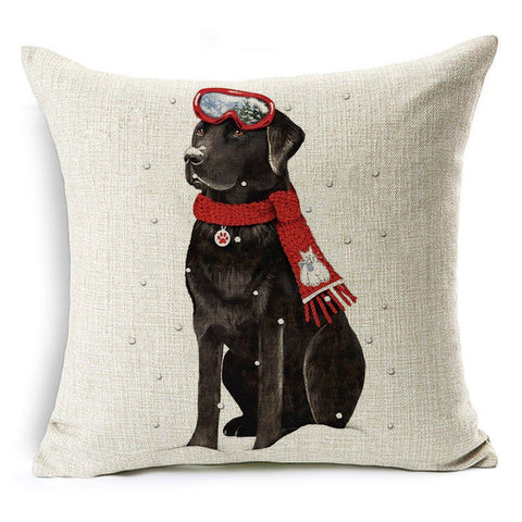 Cushion Cover With Your Dog At Christmas