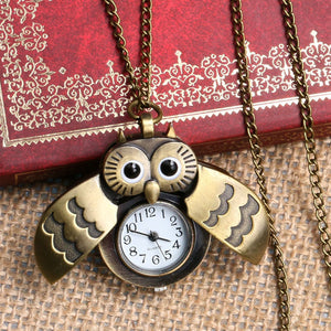 Lovely Owl Watch With Necklace