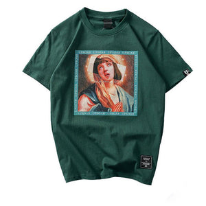Virgin Mary Pulp Fiction Mia Wallace Remix T-Shirt - 1947 Collective t-shirt